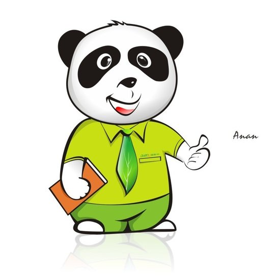 请问这个熊猫是什么卡通人物,或者是什么网络表情包?图片