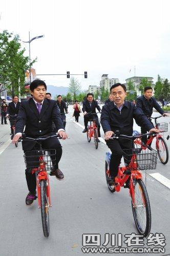 都江堰启动自行车租赁 青城山虹口等将设站点