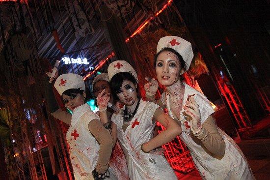 兰桂坊成都万圣节惊悚还魂 恐怖护士复仇之夜