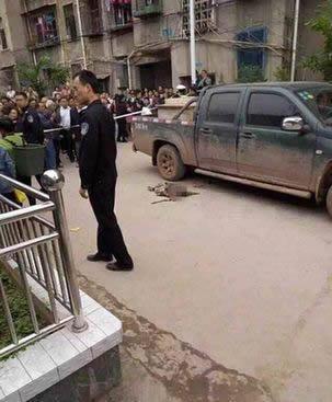 资阳2岁男孩接哥哥放学 在学校通道被撞身亡(图)