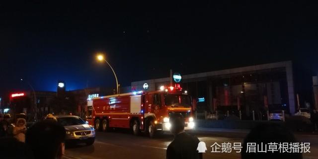 眉山一汽车销售公司起火 目击者称多辆车过火