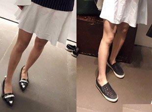 用几个小技巧 小个子穿平底鞋也能显腿长
