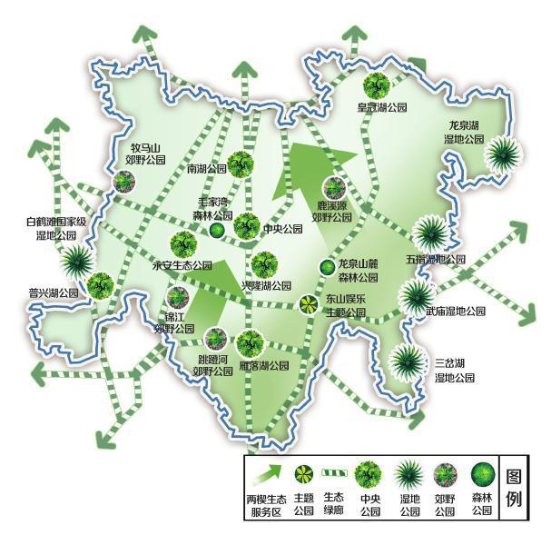 天府新区新增6处城市中央公园 每处不小于1平方公里