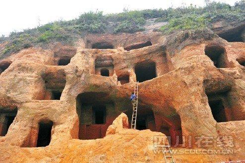 乐山现2000年前东汉墓群 见证蜀人建筑技艺