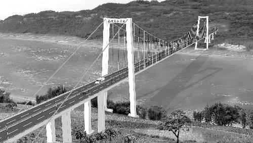 南溪长江大桥主塔工程完工 桥上设人行通道