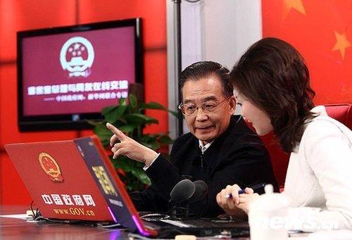 温家宝27日上午9时将到新华网与网民在线交流