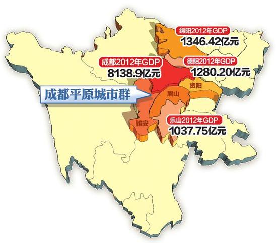 德阳市地铁规划图-成都城市群 抱团寻求 次级突破