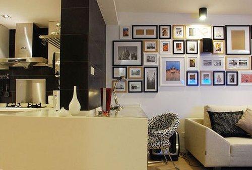 温馨美丽照片墙 宜家风公寓装修效果图