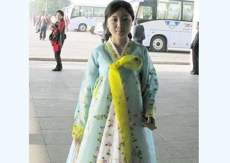 朝鲜令人惊艳的女导游-美丽的朝鲜女导游