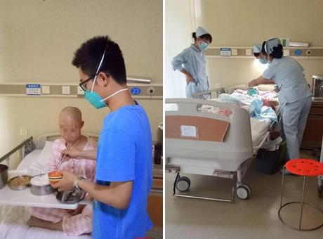 成都大二学生休学一年照顾生病母亲:妈妈只有一个
