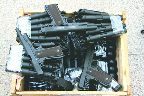 手枪简笔玩具画