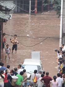 达州7.18洪水图片