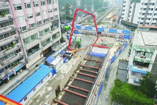 地铁4号线省文联站封顶 武成大街拟10月恢复通车