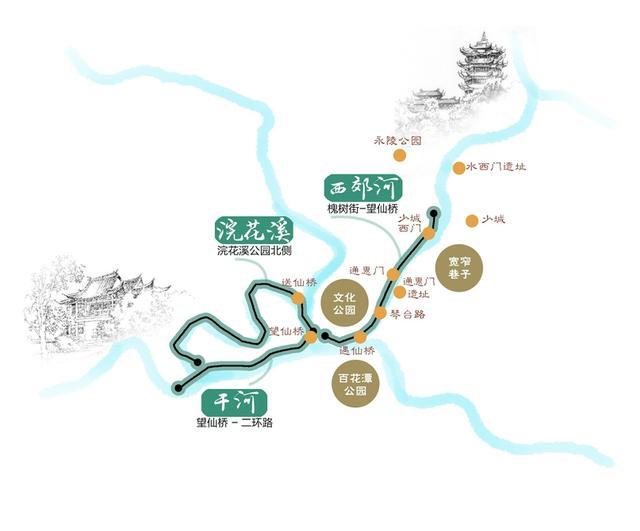 """成都打造7.4公里""""宜居水岸"""" 今后可坐游船观古城"""