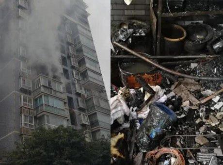 宜宾一小区发生火灾 12名被困群众获救无人员伤亡