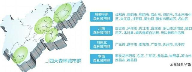 四川省四大森林城市群建设年内启动 这些城市在其中