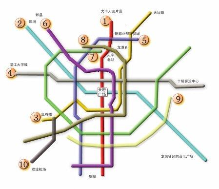成都地铁8、9、10号线项目方案首次亮相(图)