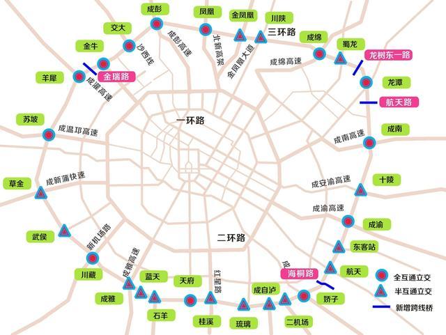 成都三环路改造方案拟定 将形成28座互通立交