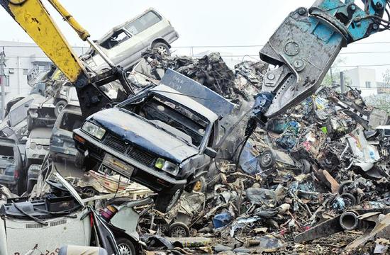 记者探秘成都唯一一家报废汽车回收中心(图)