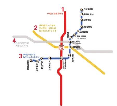 成都地铁3号线一期工程8月开工 全长约20公里