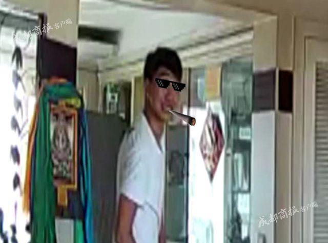男子入室盗窃10多万元财物被摄像头拍下 竟面对镜头