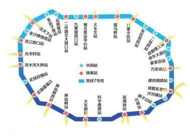 成都首条地铁环线7号线获批 每小时运送5万人(图)