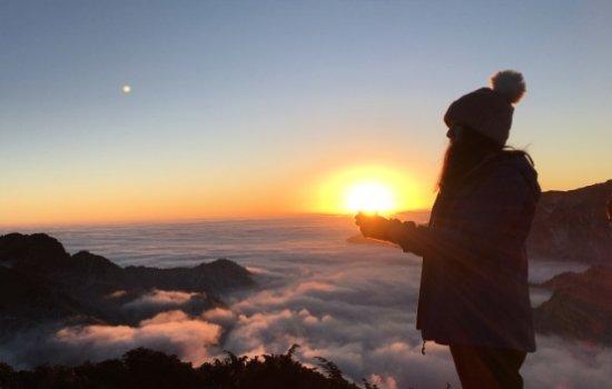 华尖山的日出日落 我们一网打尽