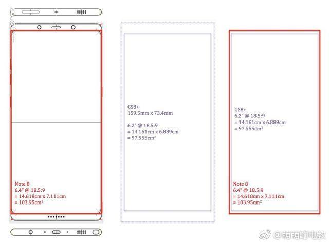 曝三星Note8屏占比逆天 Note7翻新版秋季到来