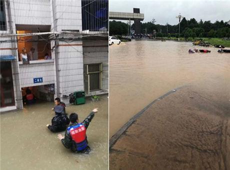 绵阳暴雨小区积水淹到腰部 北川洪水穿房而过