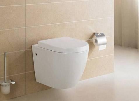 嫌卫生间太小 把马桶挂墙上试试