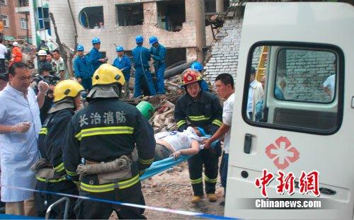 组图:山西长治城区医院发生锅炉爆炸 3死17伤