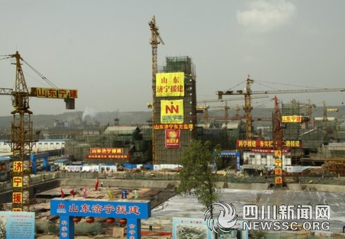 北川新县城最高建筑封顶 可观新县城全貌