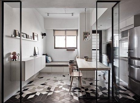 高颜值现代风 巧用镜面让房间变大一倍