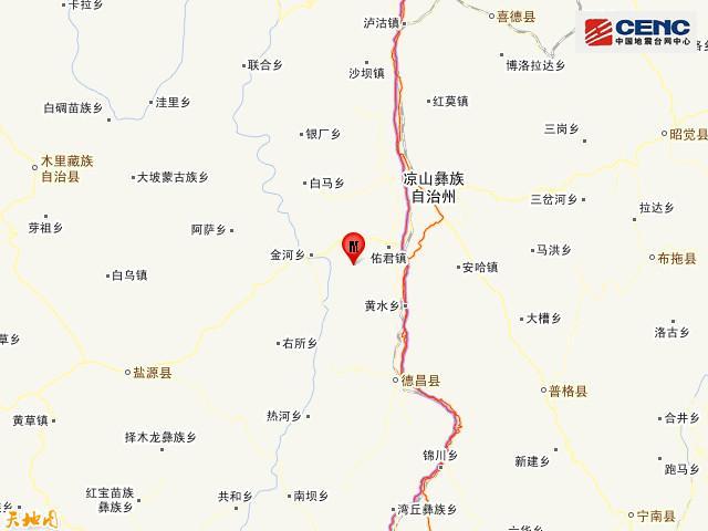 四川凉山州西昌市发生3.3级地震图片