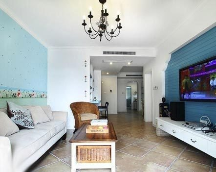 房屋装修情况: 【装修面积】:93平方米 【装修风格】:地中海 【装修