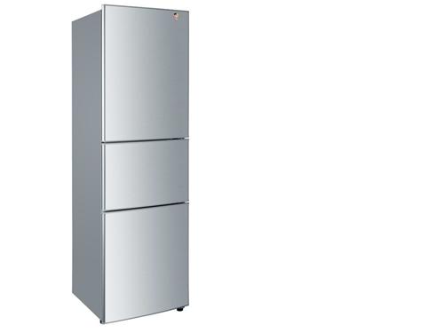 海尔三开门冰箱bcd-216zdj外观选用简单的金属色面板设计,高清图片
