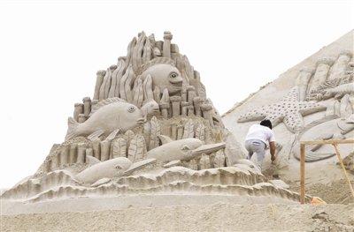 常德沙滩公园的沙雕又来了