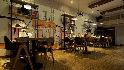 喝的是思想 美式工业风咖啡馆设计图片