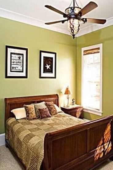 美式卧室床头背景墙效果图欣赏图片