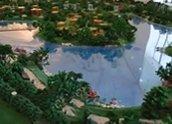 世茂香槟湖小区绿化景观沙盘实景
