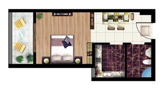 一房一厅一厨一卫设计图展示