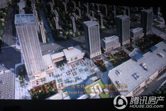 大屏幕上播放着世茂广场的整体规划-世茂广场观影活动完美落幕,3D