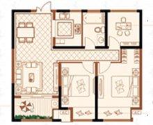 绿洲白马公馆88.43�O3室2厅1卫户型