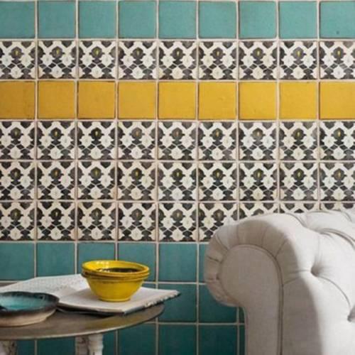 把墙面瓷砖铺贴设计当做一个平面作品来设计-出彩马赛克 花色瓷砖打