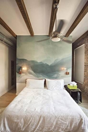 美式卧室床头背景墙效果图欣赏