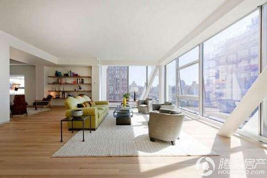 纽约高级公寓 木地板烘托下的豪华现代感