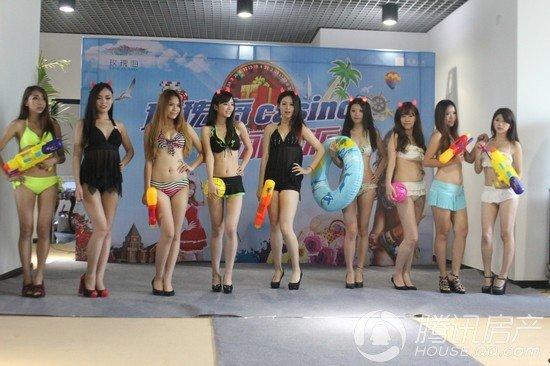 中国玫瑰海泳池派对火爆来袭 比基尼美女点燃