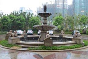 绿地白金汉宫售楼处前喷泉