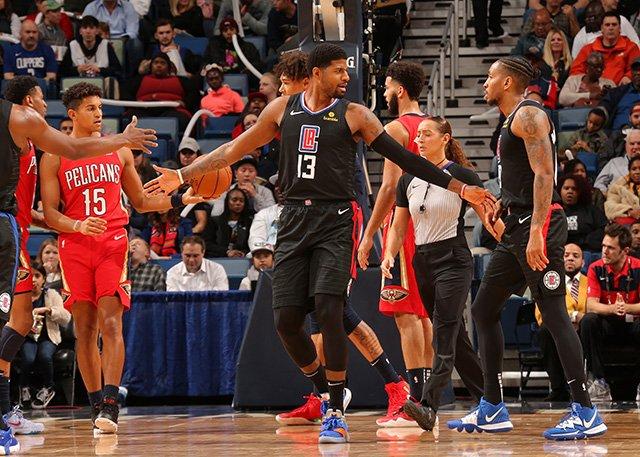 喬治復出首秀!Leonard和Beverley休戰,快艇負鵜鶘遭遇兩連敗,Holiday 36分(影)-黑特籃球-NBA新聞影音圖片分享社區