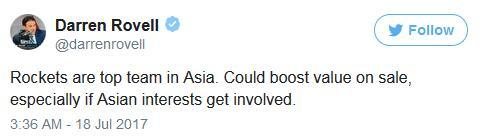 火箭可是亚洲第一球队。